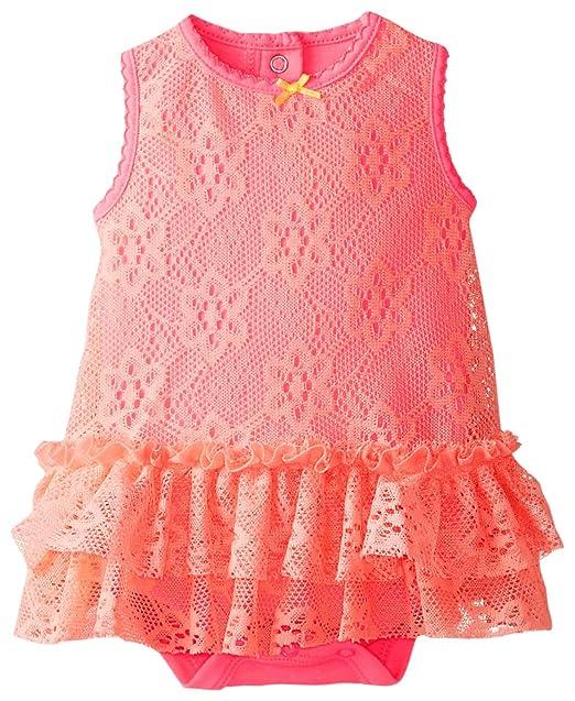 Amazon.com: babystarters bebé niña body Lace Overlay y ...