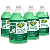 "OdoBan 936162-G4-4 Neutral pH Floor Cleaner Concentrate, 4-1 gal Bottles, 128 fl. oz., 12"" H, 6"" W (Pack of 4)"
