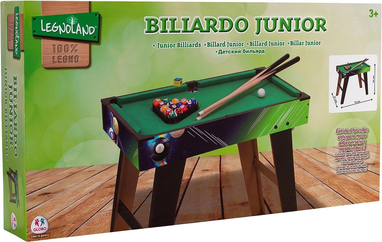 Legnoland - Billar con Patas, 2 Palos y Bolas, 70 X 63 X 37 cm (Globo 37359): Amazon.es: Juguetes y juegos