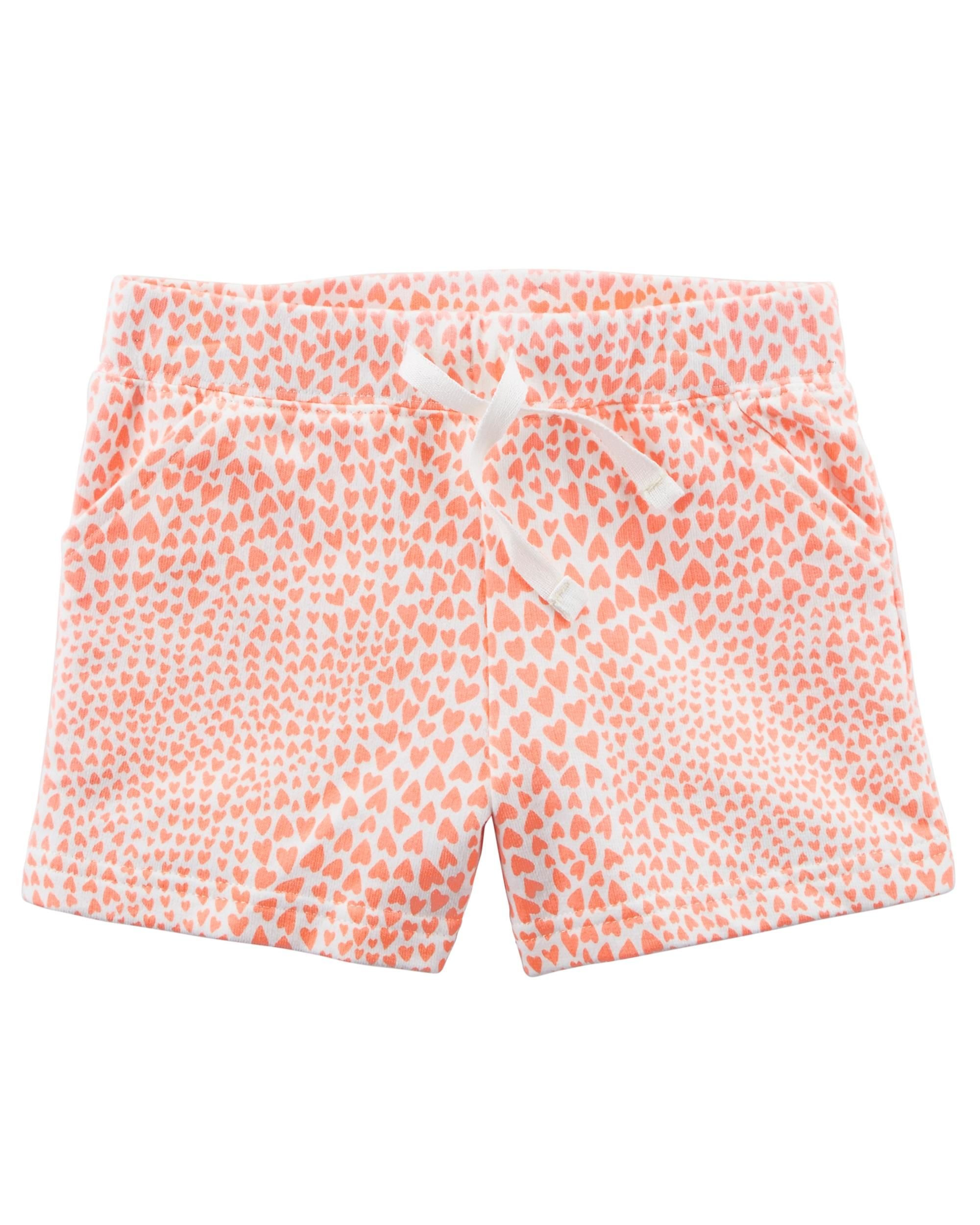 Carters Girls Easy Pull-On Knit Shorts (4/5, Peach)