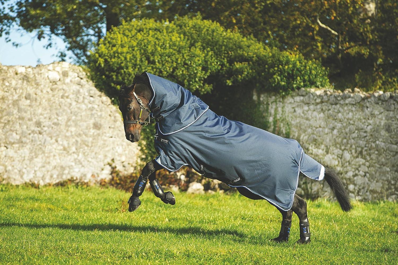 Horseware Amigo Bravo 12 PLUS Turnout Lite 0g NEW incl. abnehmbarem Halsteil - Navy blu