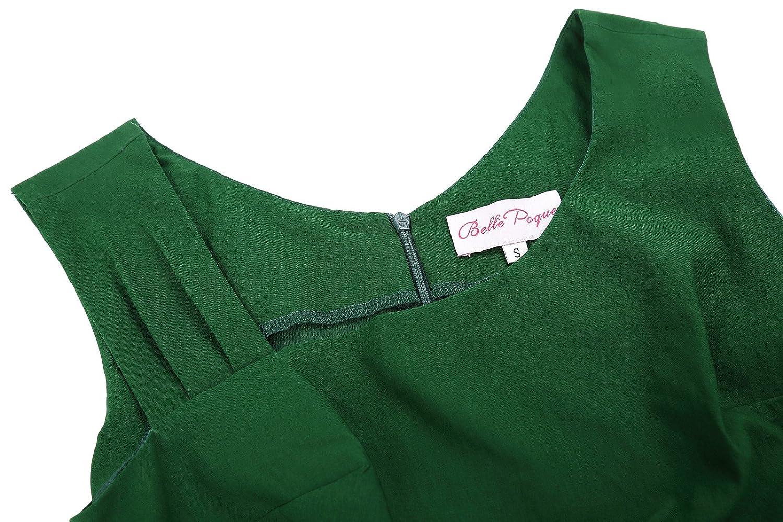 Belle Poque BP302 Vestido sin Mangas Vintage l/ápiz para Mujer