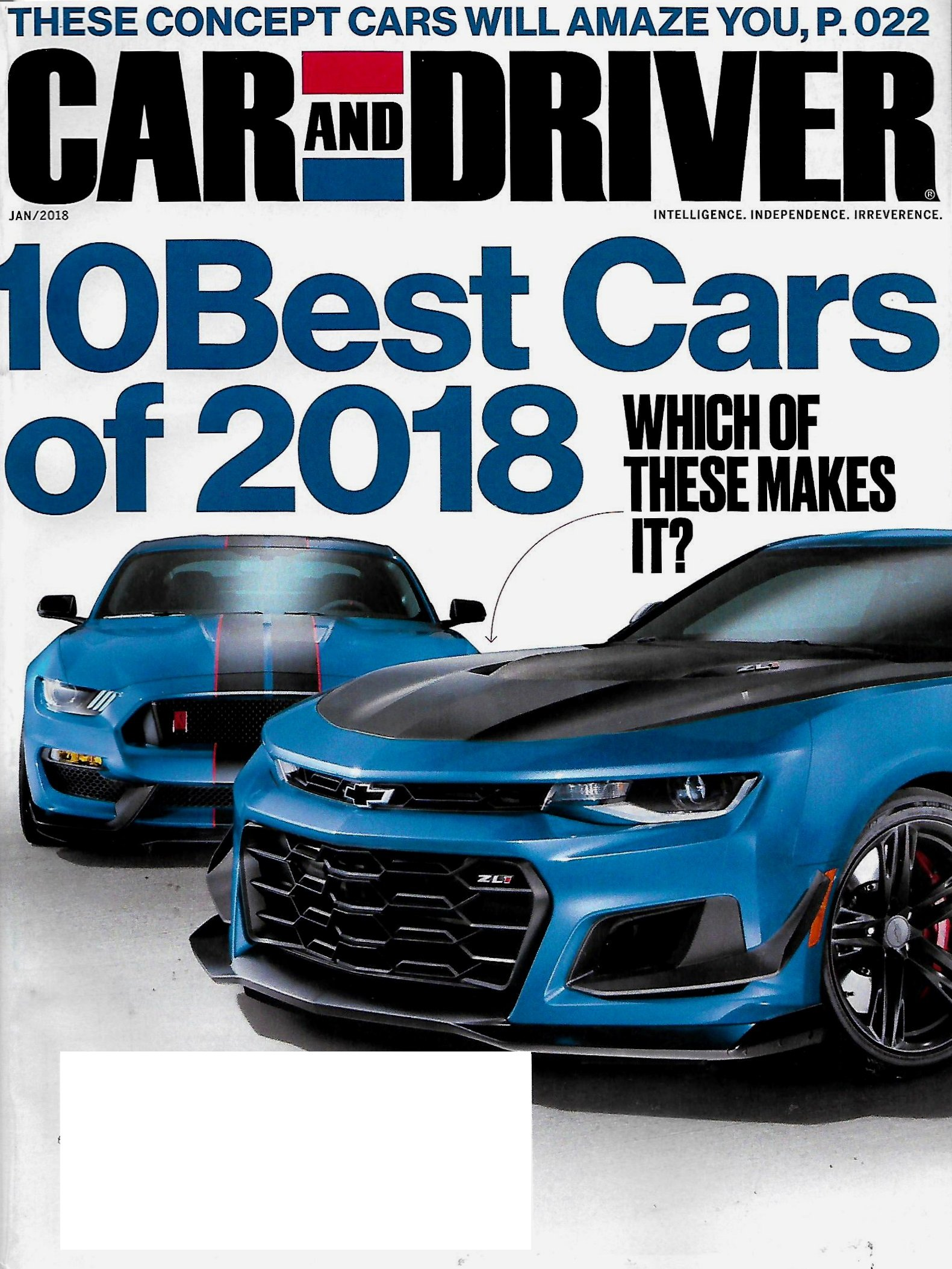 Car And Driver 10 Best >> Car And Driver January 2018 10 Best Cars Of 2018 Amazon Com