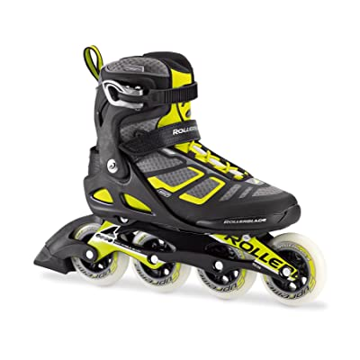Rollerblade Macroblade 90 Alu Men's Adult Fitness Inline Skate, Black and Lime, High Performance Inline Skates : Sports & Outdoors