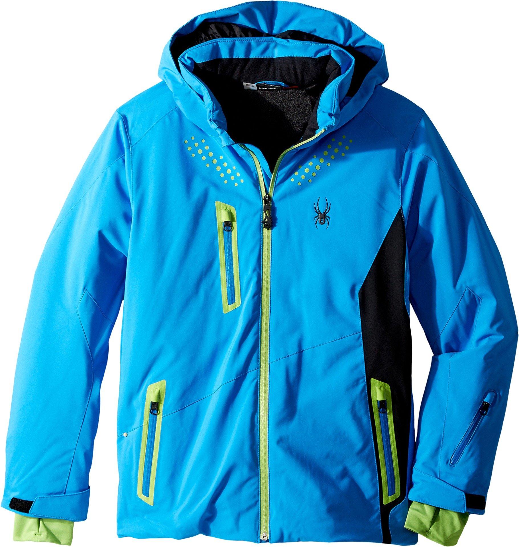 Spyder Kids Boy's Vail Jacket (Big Kids) Fresh Blue/Black/Fresh 12