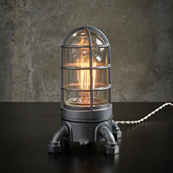 U0026quot;VAPOR TOUCHu0026quot; 2.0 Touch Dimmer Industrial Lamp. Very Solid Vapor  Tight Nautical