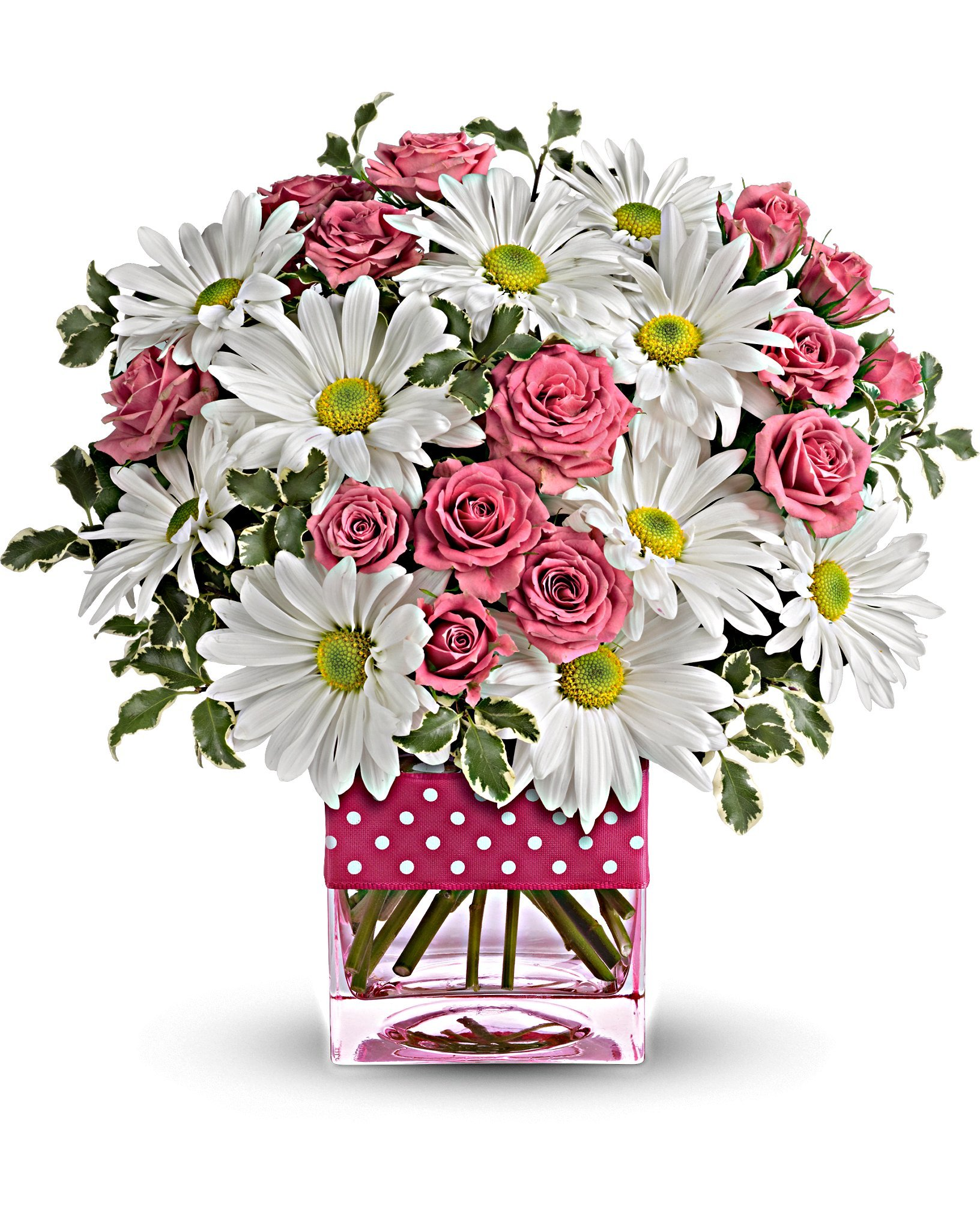 Teleflora's Polka Dots and Posies Bouquet by Teleflora