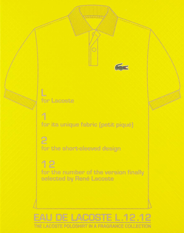 Amazon.com  Lacoste Eau De L.12.12 Yellow, Men s EDT Spray, 5.9 Ounce   Lacoste Eau De Lacoste L.12.12 Yellow  Luxury Beauty ac0f2df68c92