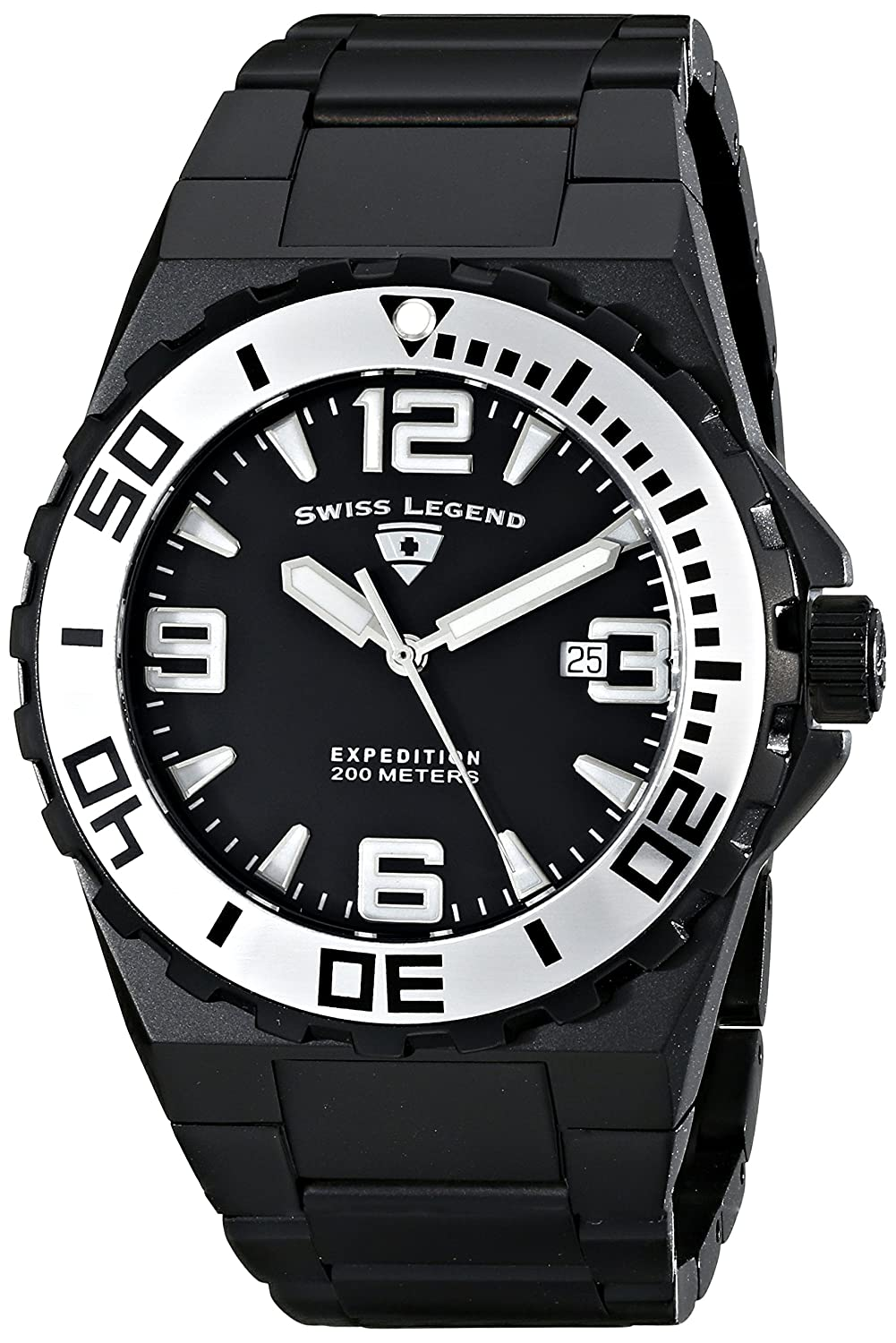 Amazon.com: Swiss Legend Mens 10008-BB-11-SA Expedition Analog Display Swiss Quartz Black Watch: SWISS LEGEND: Watches