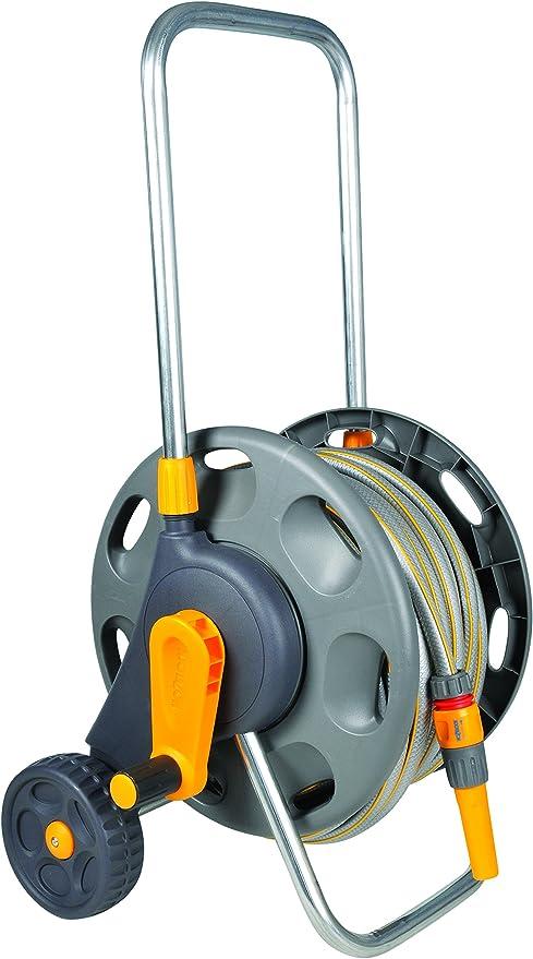 Hozelock - Carro portamangueras para 45 m de 12, 5 mm - incluye 20 m de manguera y todos los accesorios - listo para su uso: Amazon.es: Jardín