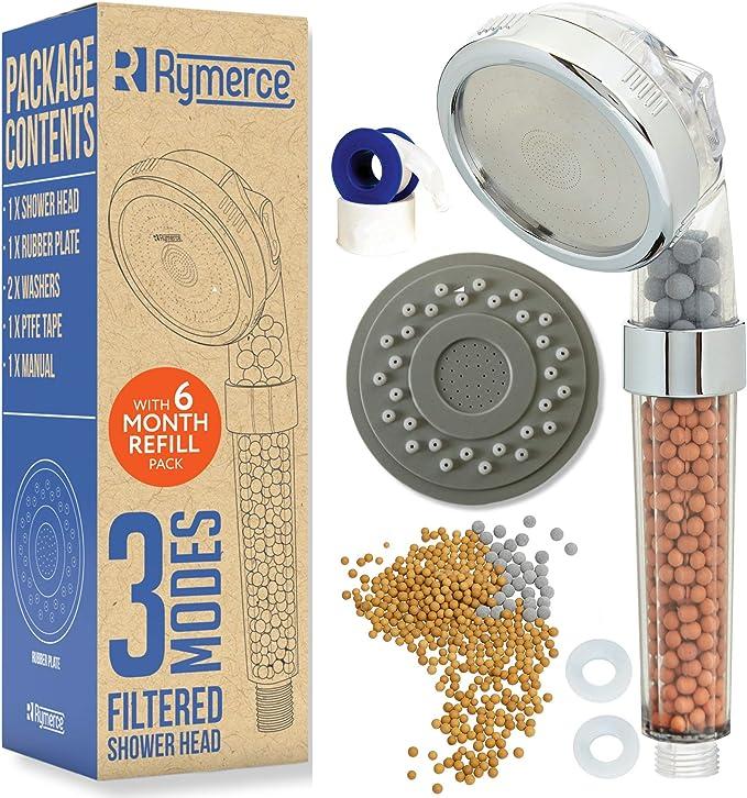 Eliminate Rust and Heavy Metal Handheld Clean shower head 1 pc /& 3 Refil Filters