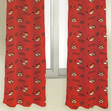 Angry Birds Curtains 66''x54'' Red: Amazon.co.uk: Kitchen & Home