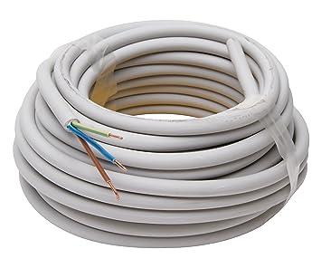 Kopp Mantel-Leitung 3 adrig, NYM-J 3x1.5 mm² (10m) Strom-Kabel für ...