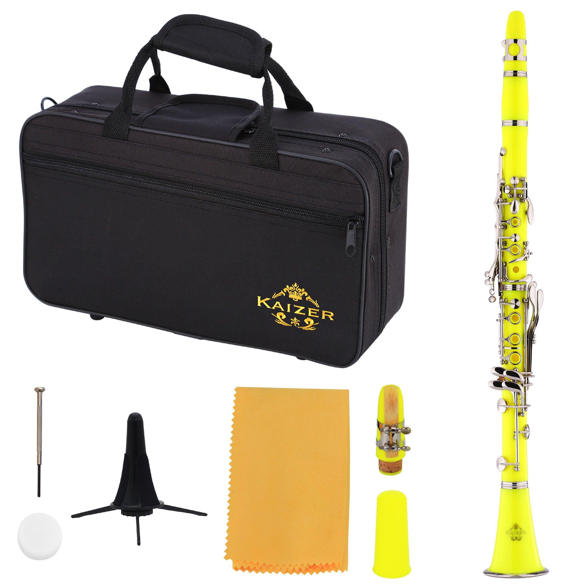 Kaizer Clarinet B Flat Bb Yellow CLE-1000YL