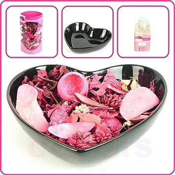 Artificial Flowers Cerise Hot Pink Potpourri Heart Gift Set - Pink ...