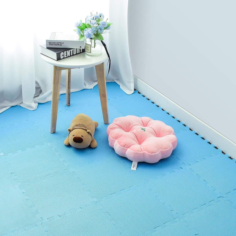 qqpp Alfombra Puzzle para Niños Bebe Infantil - Suelo de Goma EVA Suave. 25 Piezas (30*30*1cm), Azul.QQC-Gb25N