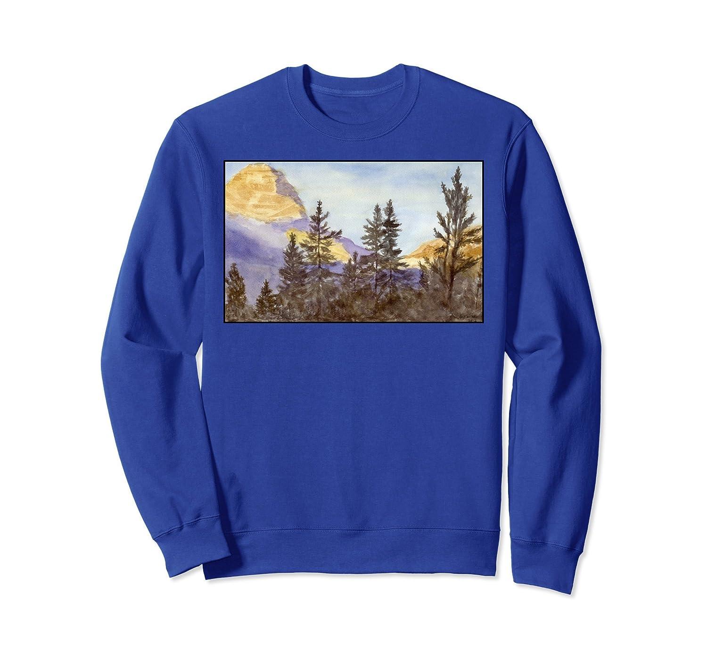 Mountain Scene Graphic Sweatshirt for Men or Women-mt
