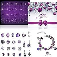 Naler Advent Calendars 2021, Advent Jewellery Pendant Charms Gift for Girls Women DIY Fashion Bracelet Necklace Xmas…