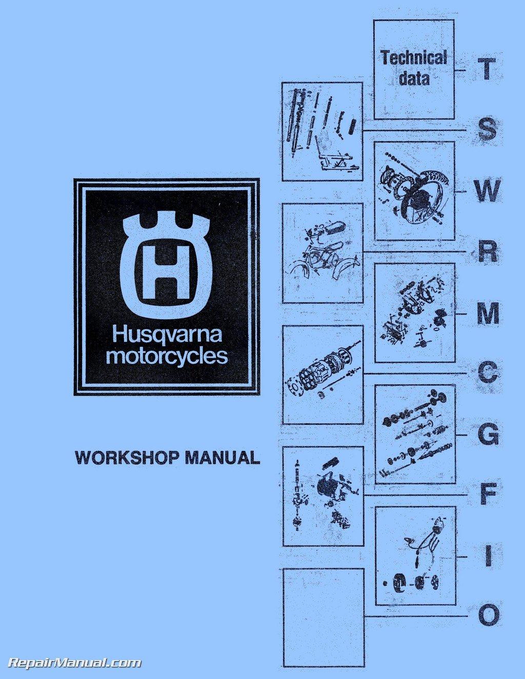 HUSQ-1974-1976 Husqvarna CR WR RT Motorcycle Manual 125 175 250 360 390 400  450 460cc 1973-1979: Manufacturer: Amazon.com: Books