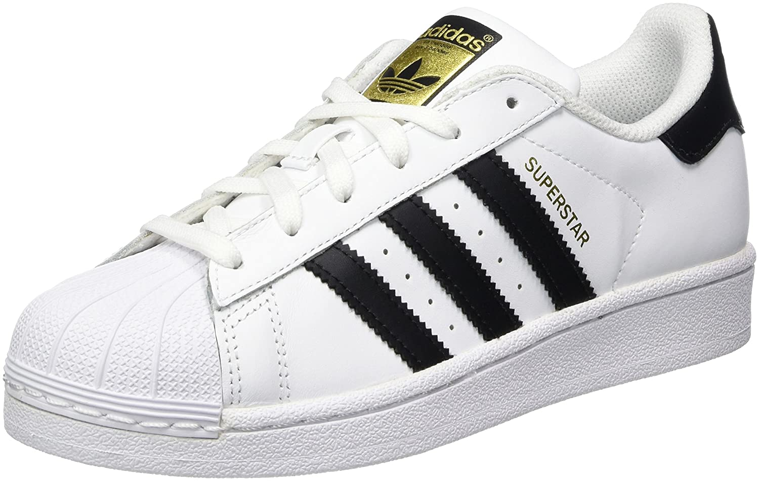 reputable site ef514 e88f7 Amazon.com  adidas Originals Superstar J WhiteBlack Leather Youth  Trainers Shoes  Sneakers