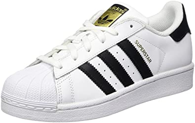 adidas Originals Superstar J Casual Low-Cut Basketball Sneaker (Big Kid ),White