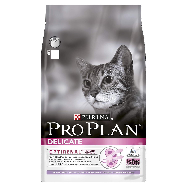 PRO PLAN Delicate avec OPTI RENAL - Riche en Dinde - 3 KG - Croquettes pour chat adulte 895