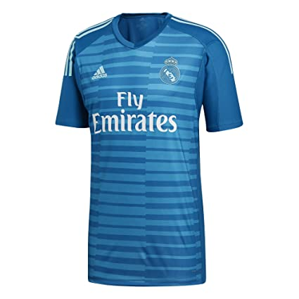 02173e8a805 Amazon.com   adidas 2018-2019 Real Madrid Away Goalkeeper Football Soccer T-Shirt  Jersey   Sports   Outdoors