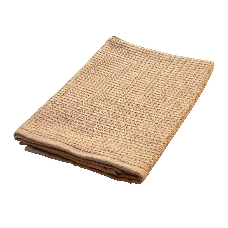 Telo bagno 90x160 cm Nido dape PURE WAFFLE 300 g//m/² beige