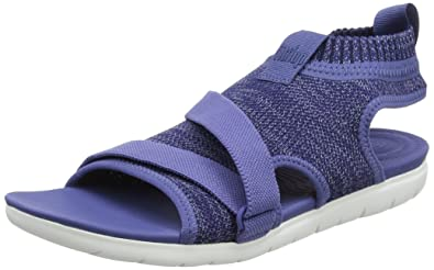 FitFlop Uberknit Back-Strap, Sandales Bride Cheville Femme, Bleu (Indian Blue/Powder Blue 564), 39 EU
