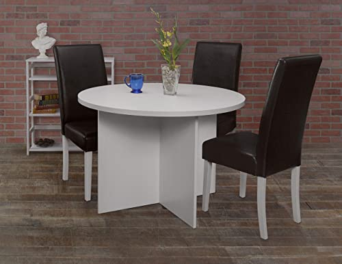 Niche Mod 42 Round Table- White Wood Grain