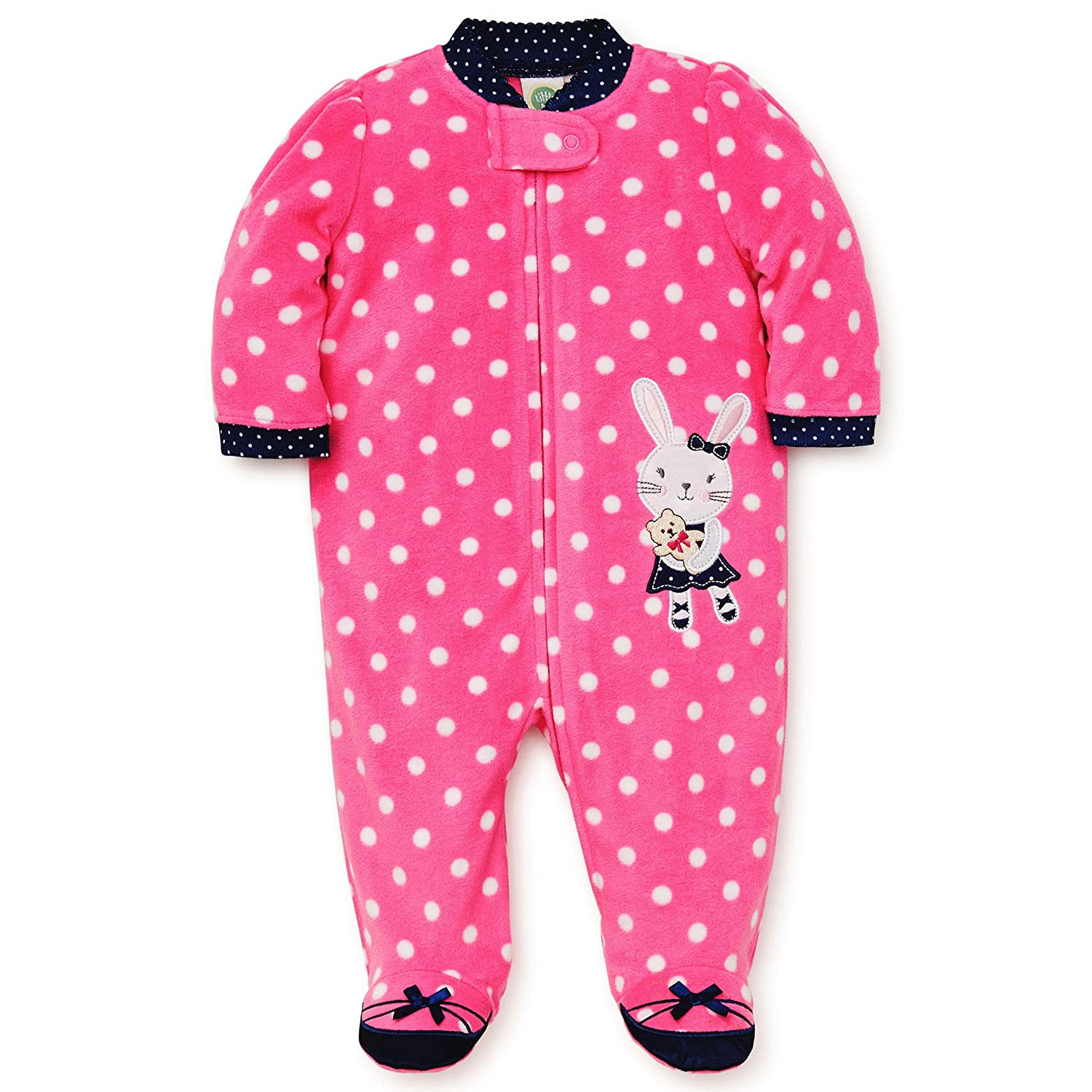 Amazon.com  Little Me Winter Fleece Baby Pajamas with Feet Blanket Sleeper  Footie Bunny Pink 12 Month  Baby 1de0caea5