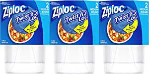 Ziploc Twist 'n Loc 32 oz Container 3 Pack, 2 Count