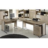 Bürotisch Office Line Winkelkombination Eckschreibtisch Eiche Sonoma