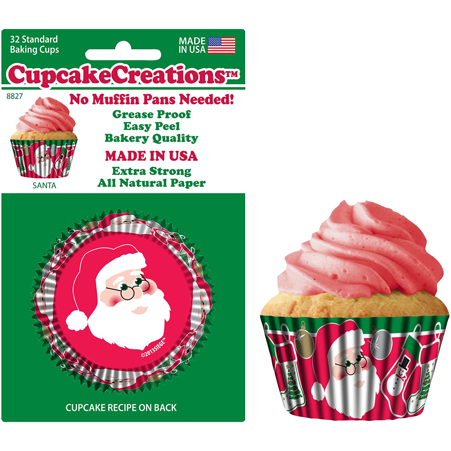 Cupcake Creations Christmas Tree Baking Cup, Set of 32 CC8827