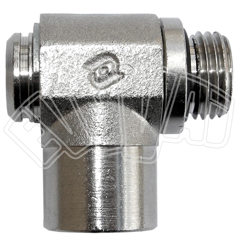 '1/4 'x1/4 M-F Empalme a –  l –  giratorio/neumá tico/Aire Comprimido CilliTek