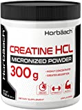 Micronized Creatine HCL Powder | 300 Grams | Unflavored Hydrochloride Powder | Superior Absorption, Highly Concentrated…