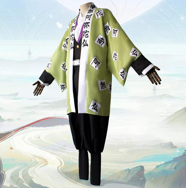 Sunkee Anime Demon Slayer Kimetsu no Yaiba Cosplay Disfraz Uniforme Kimono Conjunto Completo Traje de Fiesta De Halloween