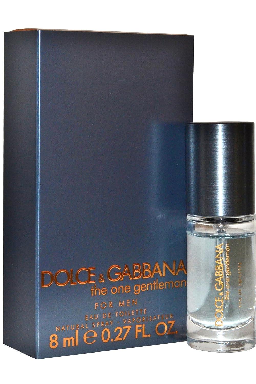 0e3610c9c Dolce & Gabbana THE ONE GENTLEMAN Travel Size Eau De Toilette Spray 8ml  (0.27 Oz) EDT Cologne: Amazon.co.uk: Beauty