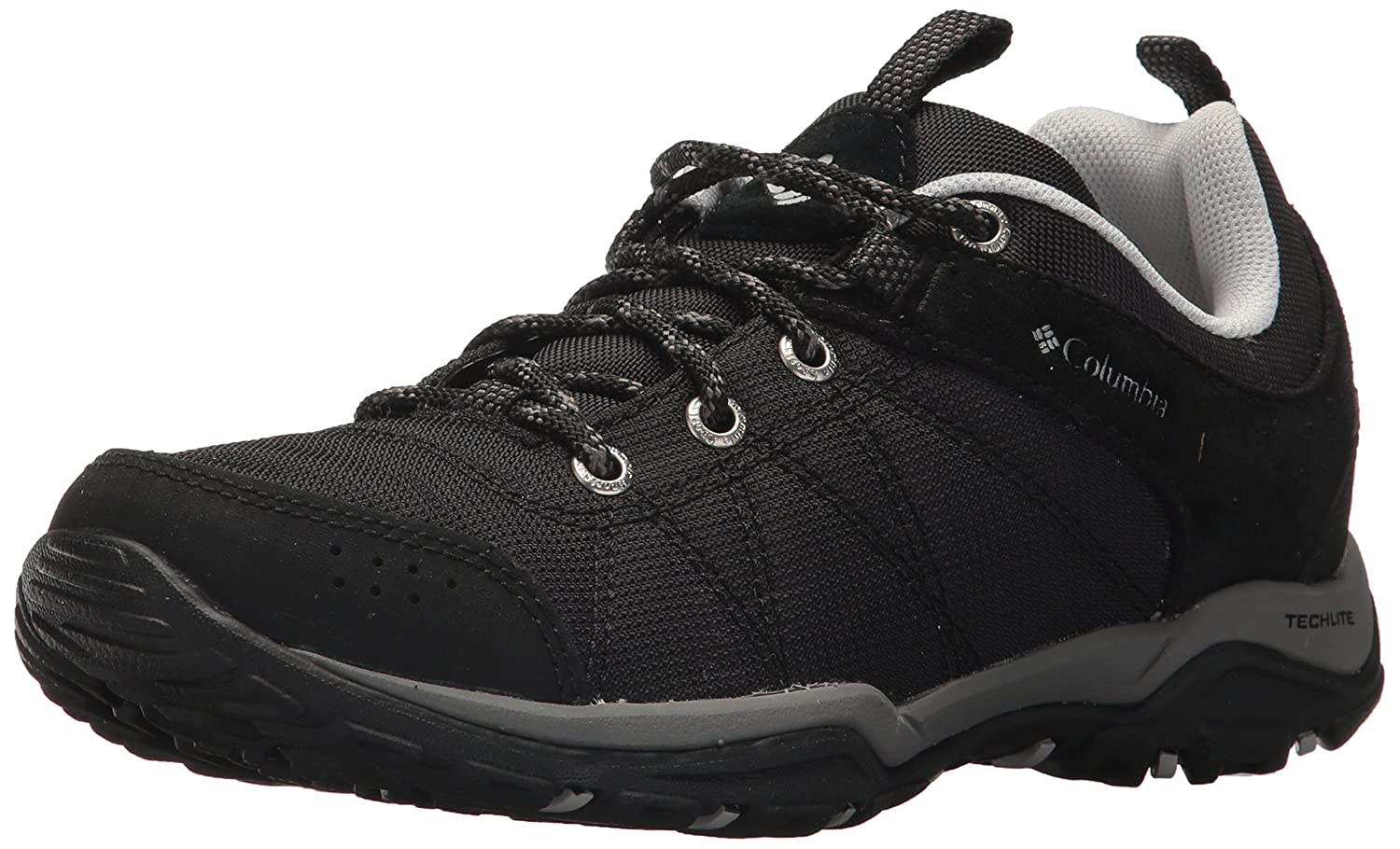 Columbia Damen Sneakers, Fire Venture Textile, Schwarz (Black, Grey Ice), Größe: 40.5
