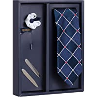 Peluche The Quilted Craft Gift Box Includes 1 Neck Tie, 1 Brooch & 1 Pair of Collar Stays for Men