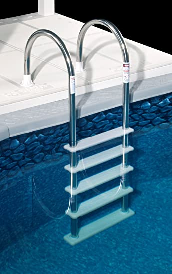 Amazoncom Blue Wave NE122SS Stainless Steel InPool Ladder In - Wedding Cake Ladder Pool