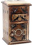 Govinda - Almirah Wooden Triple Moon Herb Cupboard