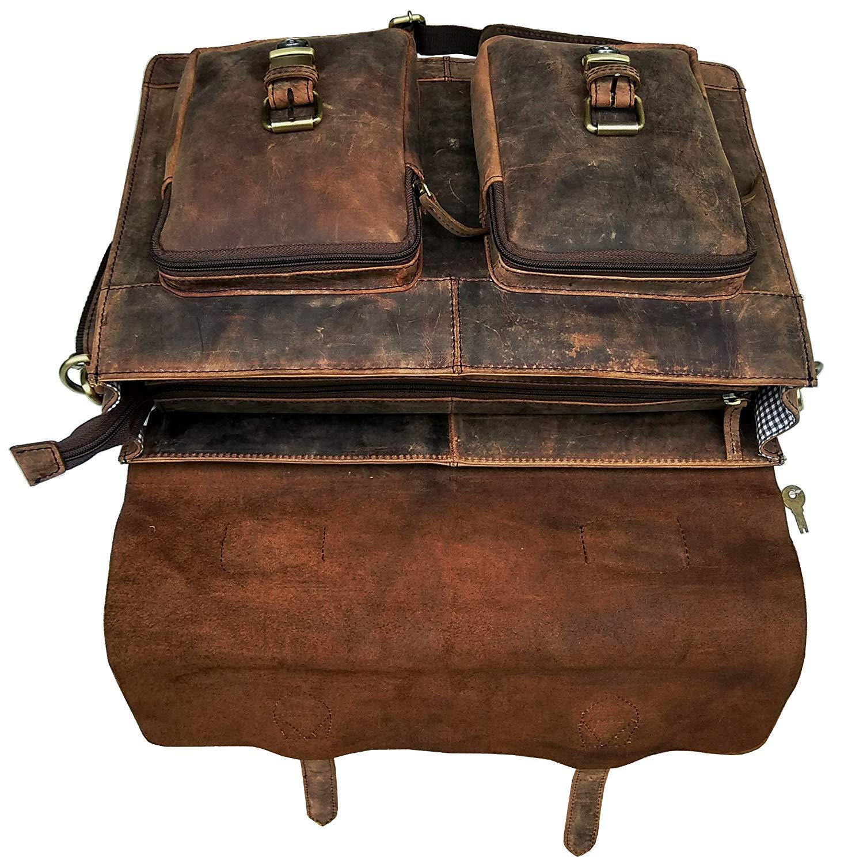 Cuero Retro Buffalo Hunter Leather Laptop Messenger Bag Office Briefcase College Bag (18 inch) by cuero (Image #7)