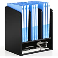 FITUEYES Wood Desktop Monitor Riser Office Stationery Organizes Black