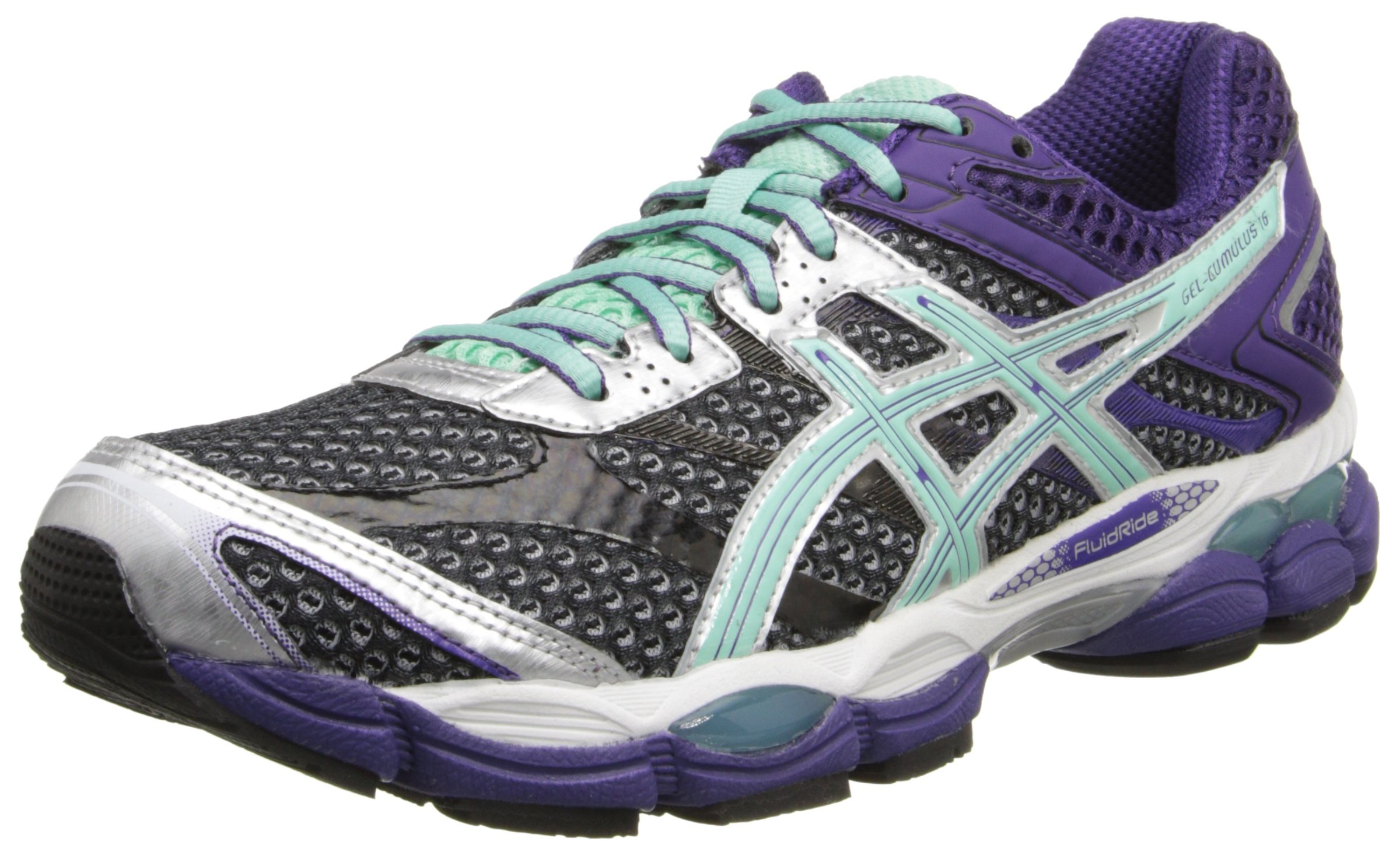 ASICS Women's Gel-Cumulus 16 Running Shoe,Onyx/Beach Glass/Purple,13 M US by ASICS