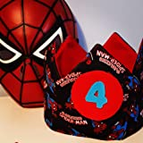 Corona cumpleaños - aniversario Tela Bebe Infantil Superheroes spiderman