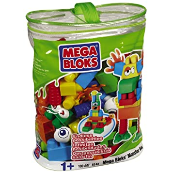 Bolsa Monster-Mega Blocks-100 Piezas