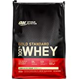 Optimum Nutrition Gold Standard 100% Whey Protein Powder, Vanilla Ice Cream, 10 Pound (Packaging May Vary)