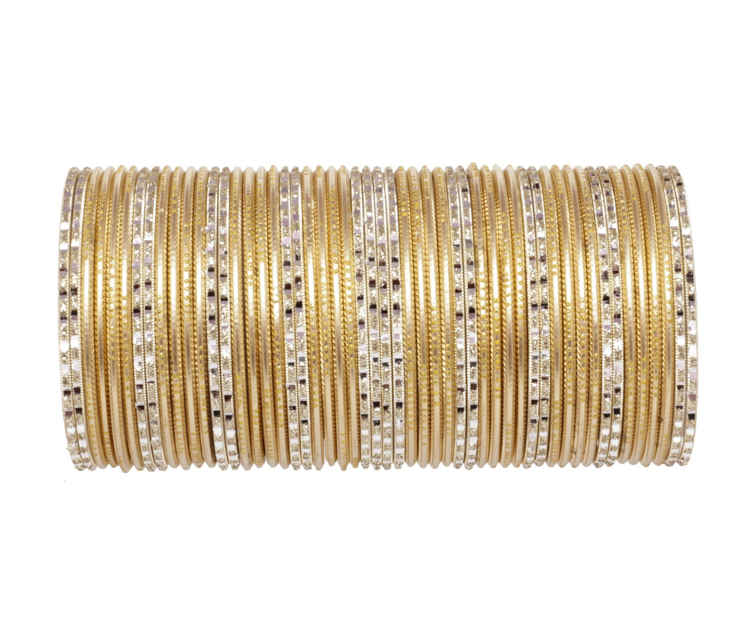 Ratna Traditional Fully Golden Wedding Bangles Set Pair Designer Fancy Gorgeous Bangles Jewellery (2.6)