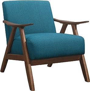 Lexicon Elle Fabric Accent Chair, Blue